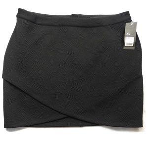 04bd0aa5d Mossimo Ebony Textured Tulip Skirt Knit